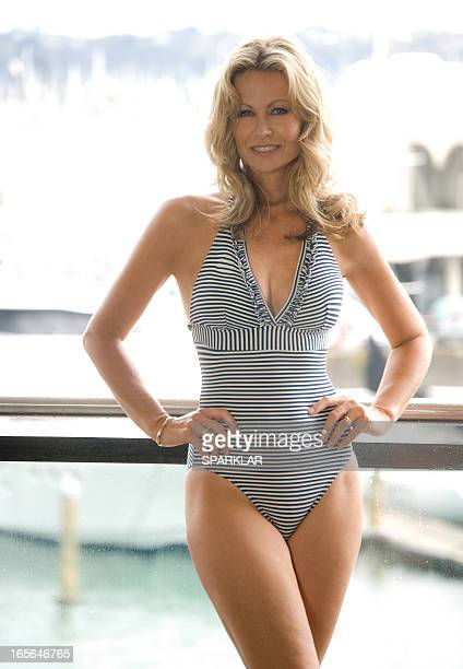 mature swimsuit model - one piece swimsuit stock pictures, royalty-free photos & images
