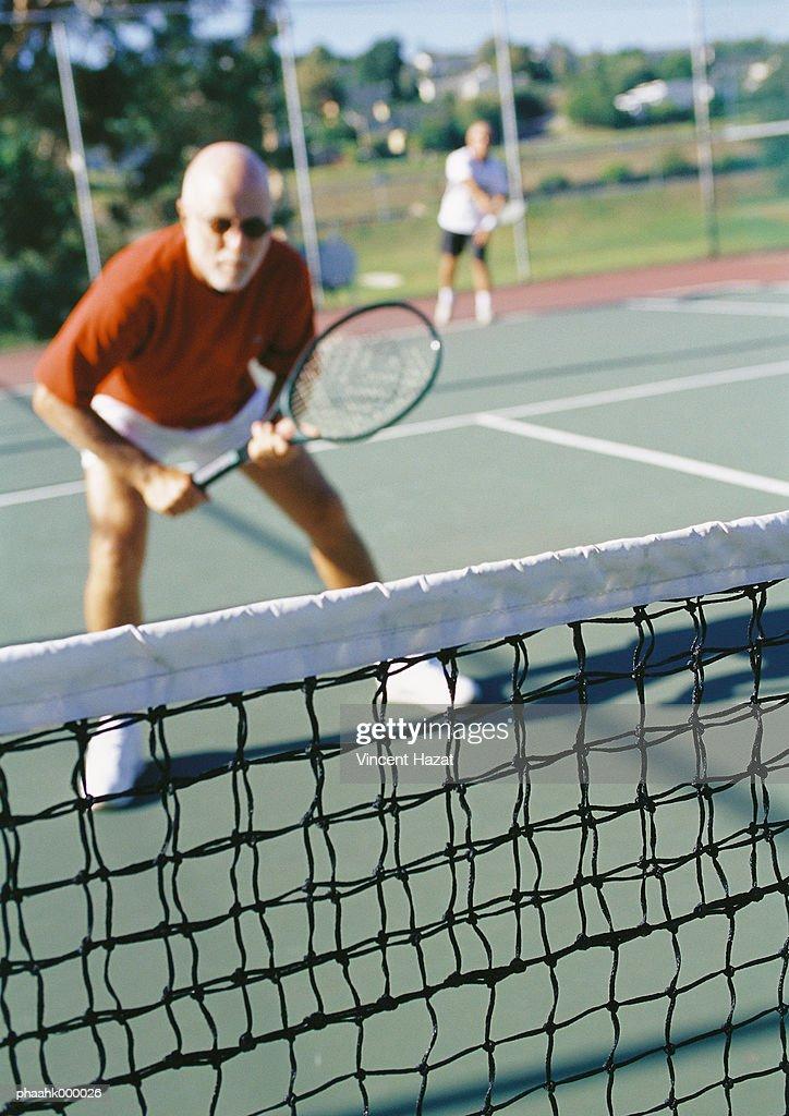 Mature tennis player : Stockfoto