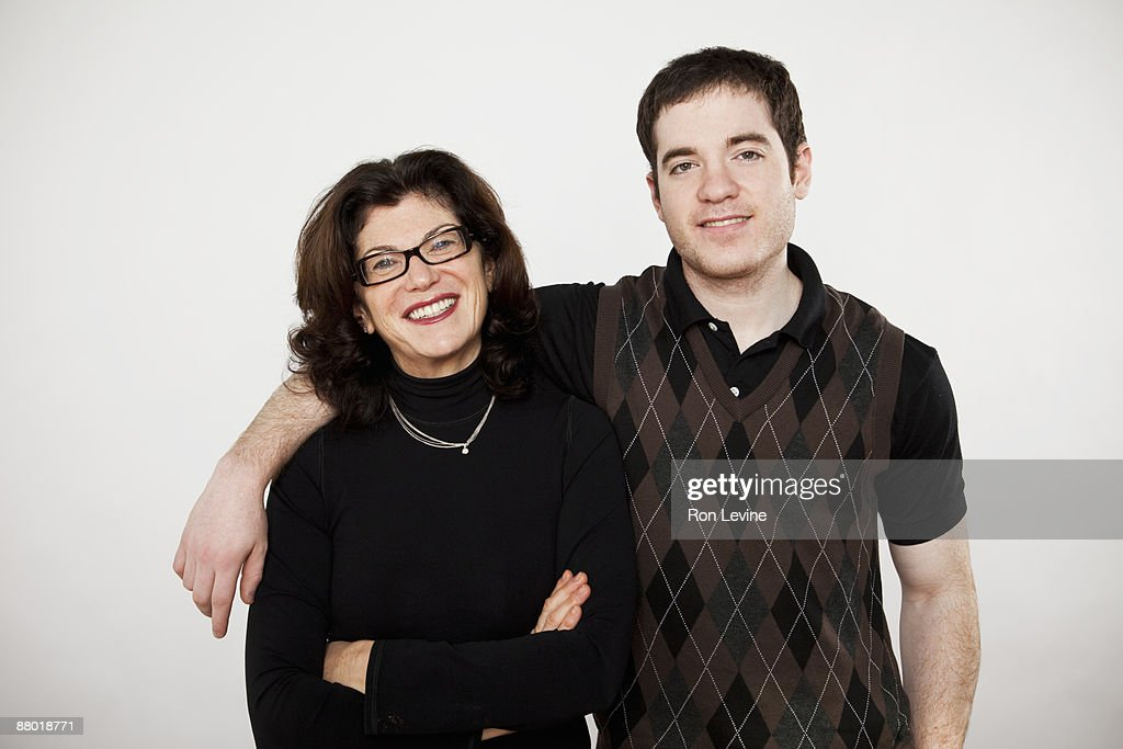 Mature woman and son, portrait : Stock Photo