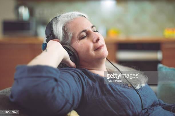 Mature woman at home
