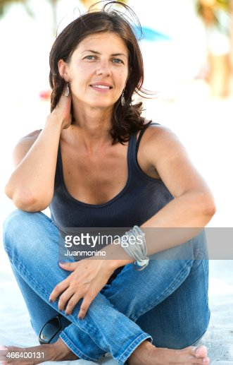 Mature Woman At The Beach Stock Photo  Getty Images-6494