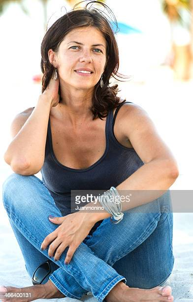 Mature woman at the beach