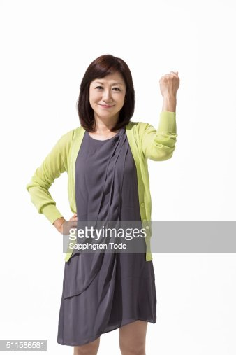 Mature Woman Clenching Her Fist High-Res Stock Photo -1170