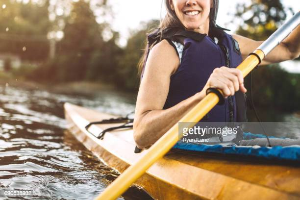 Mature Woman Enjoying Kayaking