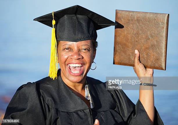 mature woman graduate - old university stock pictures, royalty-free photos & images
