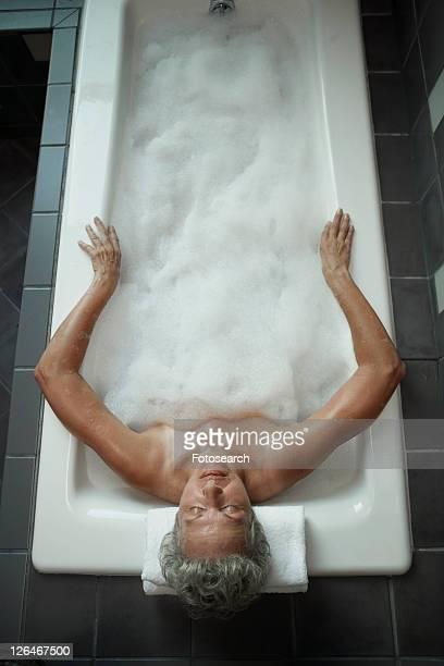 Mature Woman Having Bath