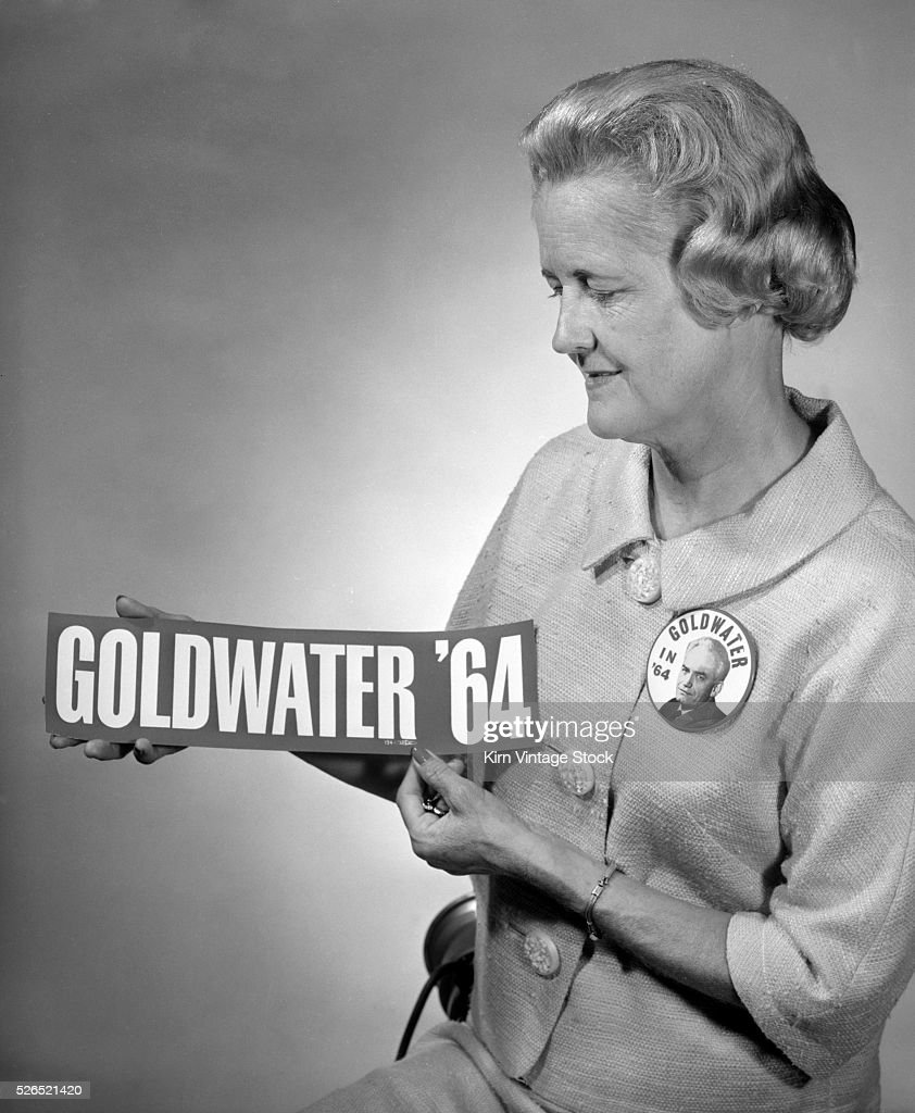 southern californian woman likes goldwater in 1964. pictures | getty