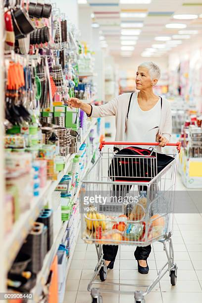 Mature Woman Home Shopping.