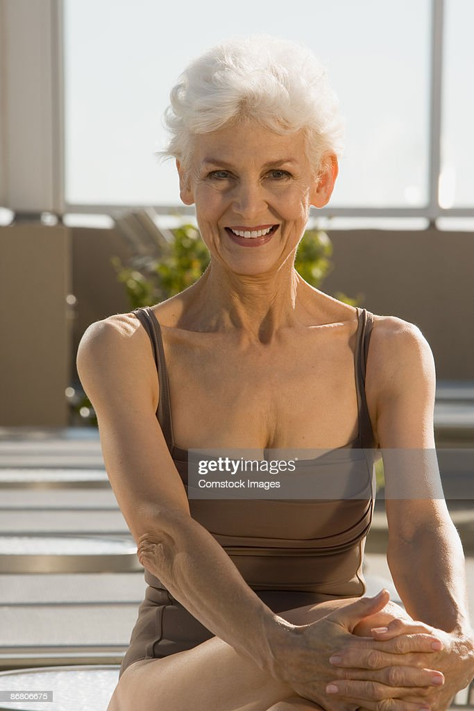 Mature Woman In Bathing Suit Stock Photo Getty Images