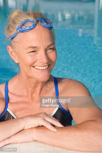 Mature woman in swimming pool