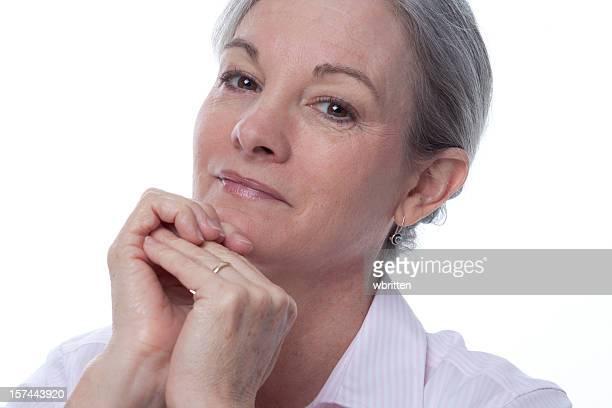 Mujer madura en excelentes plantear (XXL