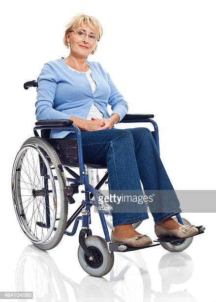 Mature woman in wheelchair