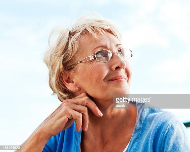 Mature Woman, Outdoor Portrait
