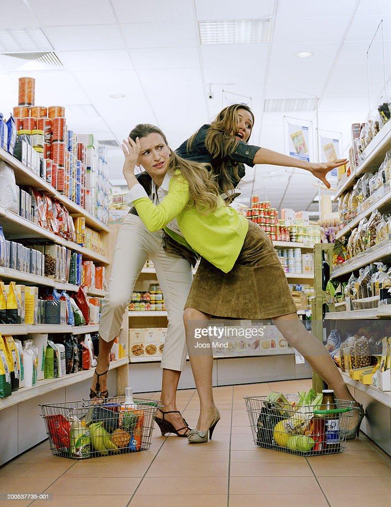 Mature in super market