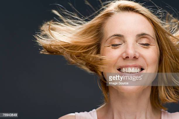 Mature woman shaking her head