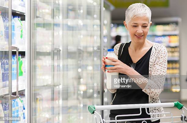 Mature woman shopping at market