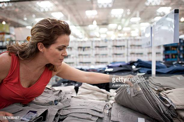 Mature woman shopping for clothes