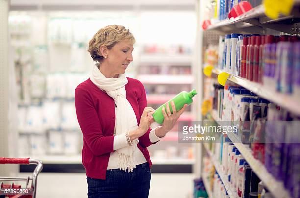 Mature woman shopping.