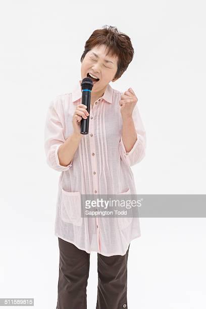 Mature Woman Singing