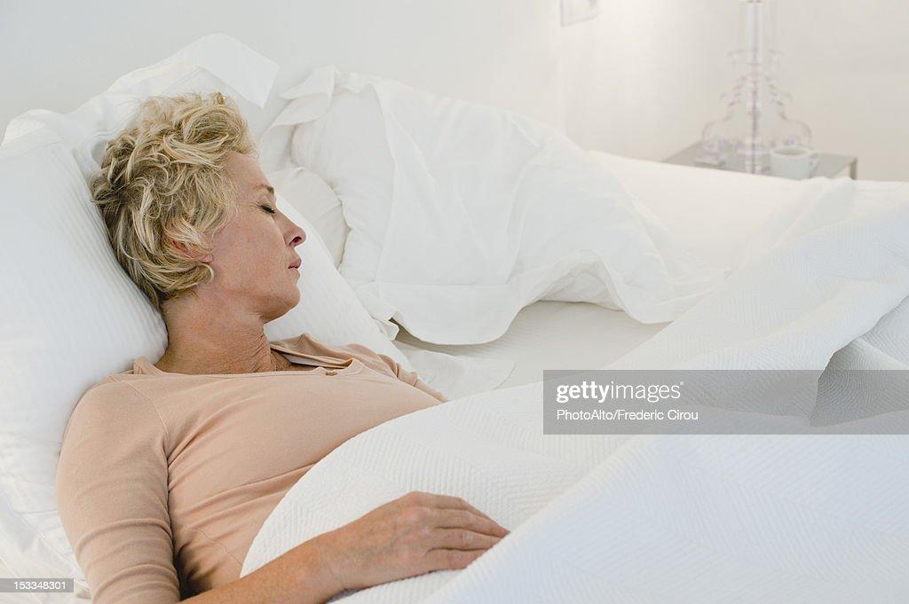ベッドで成熟する