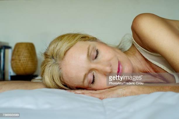 Mature woman sleeping