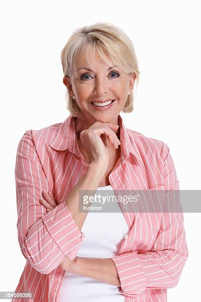 mature woman smiling - one mature woman only stock pictures, royalty-free photos & images