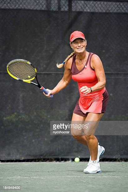 mature woman tennis player