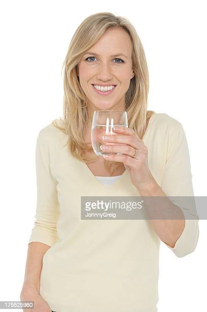 Mature Woman With a Glass Of Water