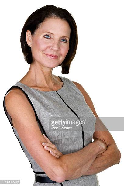 Mature woman with confident expression