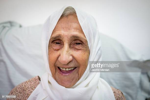 Mature woman with headscarf