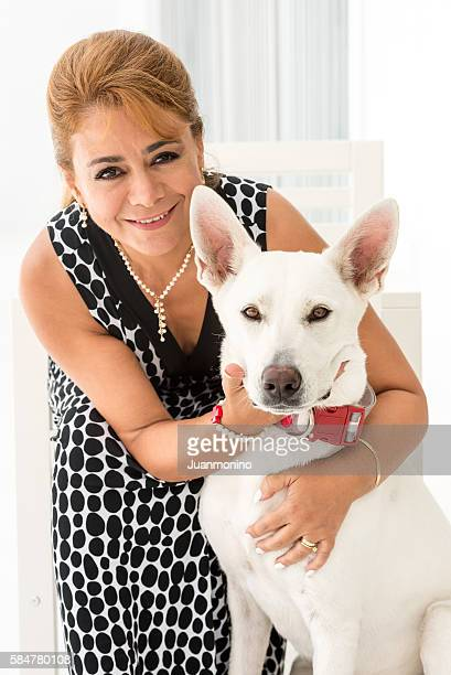 Mature woman with her dog