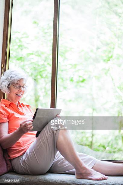Mature Woman with Tablet Computer