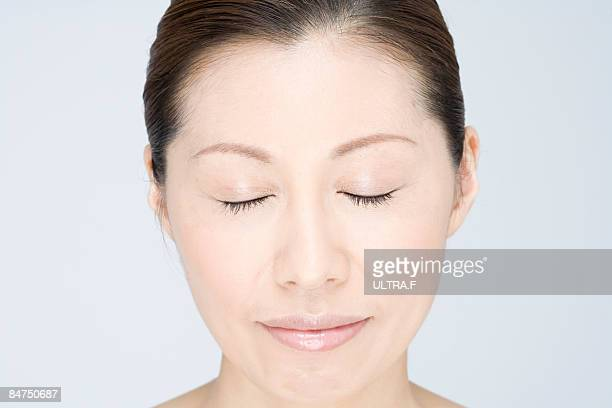 Mature woman's face