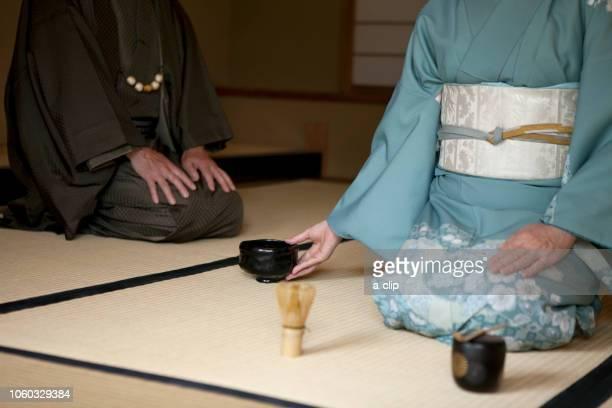 Mature women who offer tea