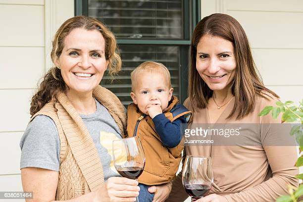mature women with baby - aunt stock pictures, royalty-free photos & images