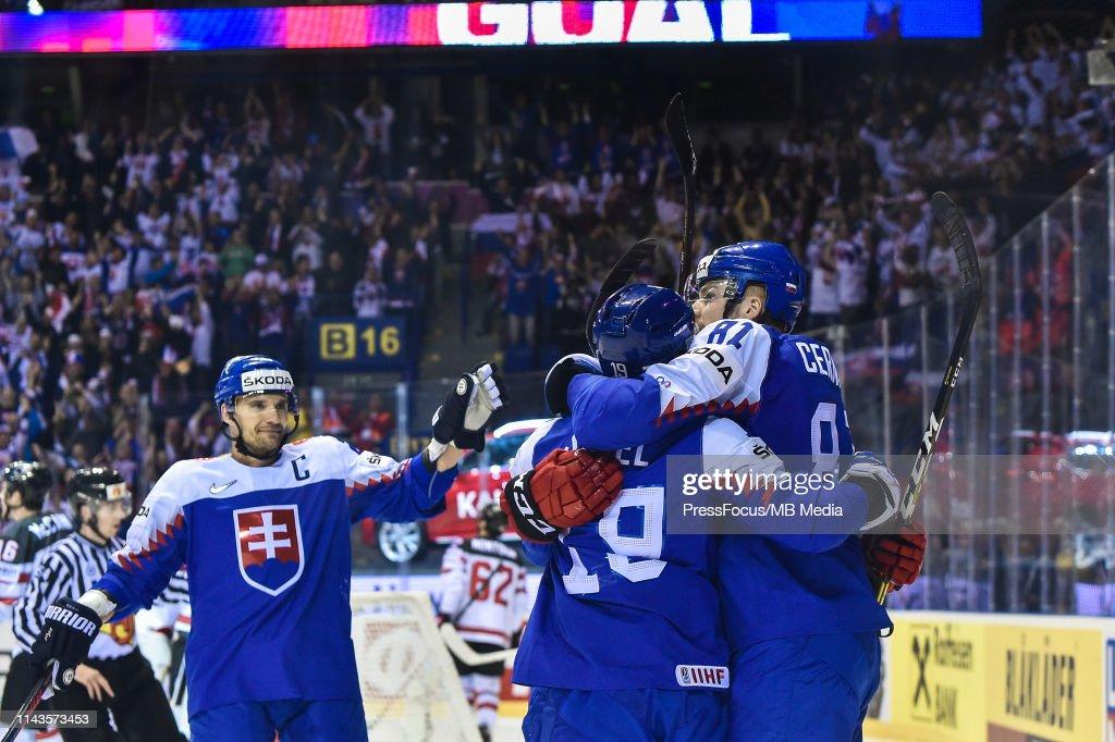 Slovakia v Canada: Group A - 2019 IIHF Ice Hockey World Championship Slovakia : News Photo