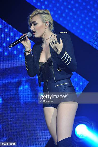 Maty Noyes performs on stage at the O2 Academy Brixton on April 22 2016 in London England