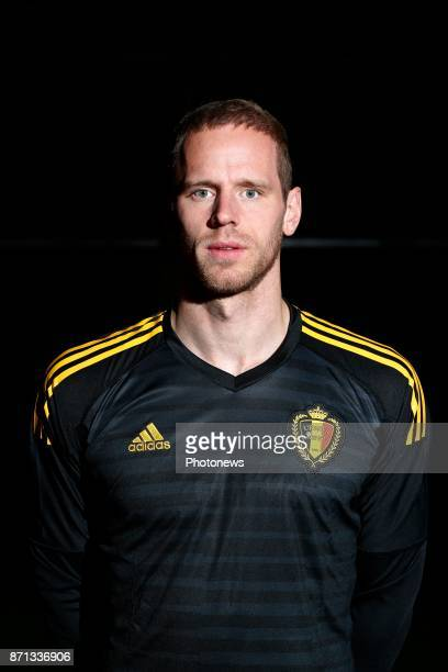 Matz Sels goalkeeper of Belgium Official team picture during the photoshoot of the Red Devils at the national training center on November 07 2017 in...