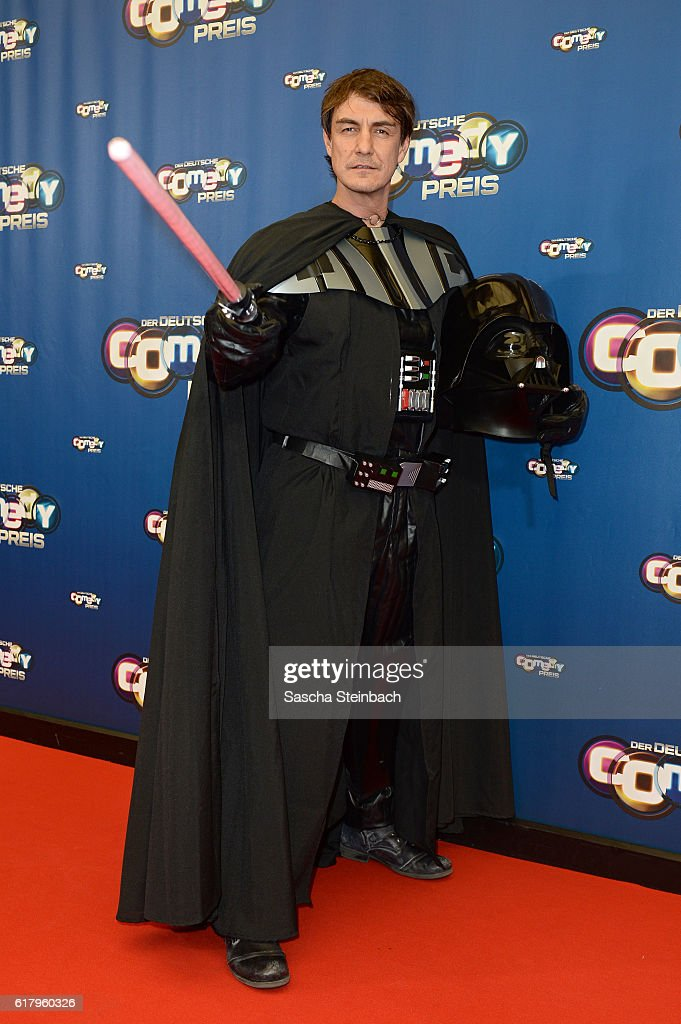 Matze Knop, dressed as Star Wars character Darth Vader, attends the 20th Annual German Comedy Awards at Coloneum on October 25, 2016 in Cologne, Germany.