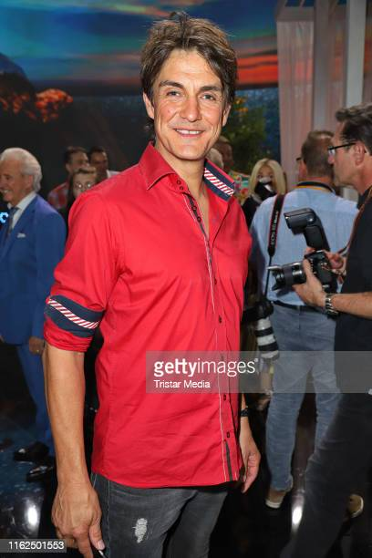 """Matze Knop during the television show """"Willkommen bei Carmen Nebel"""" at Baden-Arena on July 13, 2019 in Offenburg, Germany."""