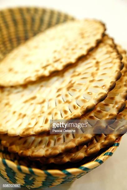 matzoh (unleavened bread) eaten during passover jewish festival. - matzah stock pictures, royalty-free photos & images
