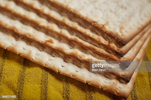 matzos, the traditional passover cracker - matzo stock pictures, royalty-free photos & images