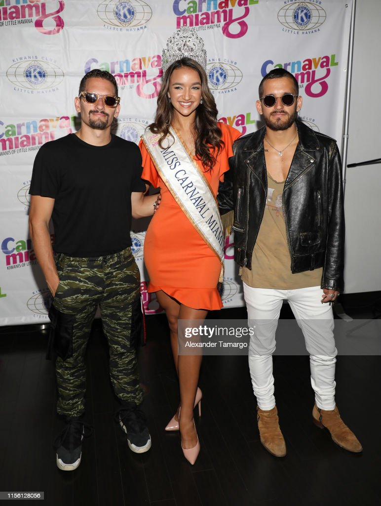Alexander Mau mau montaner, camila cuesta and ricky montaner of the
