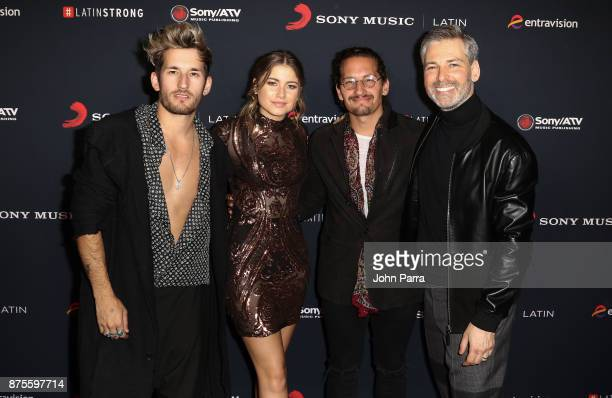 Mau Montaner Sofia Reyes Ricky Montaner and Nir Seroussi attend Sony Music Latin Celebrates Its Artists At Their Annual Latin Grammy After Party on...