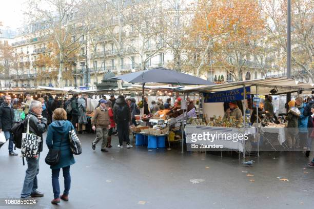 Maubert market, on the edge of Boulevard Saint-Germain, in Paris, France.