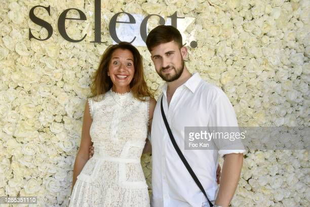 """Mauboussin Paix Boutique Manager Judith Sultan and Yanis Bargoin attend """" Mauboussin Private Party Hosted by """"Select vu First Production"""" At Villa..."""