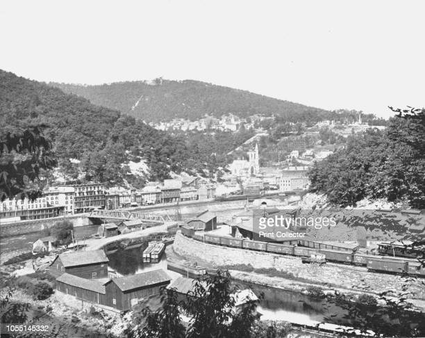 Mauch Chunk Pennsylvania showing Mount Pisgah USA circa 1900 The town of Jim Thorpe was founded as Mauch Chunk and was the lower terminus of the...