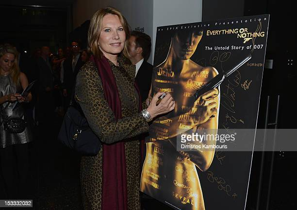 Maud Adams attends EPIX Presents the Premiere of Everything or Nothing The Untold Story of 007 at MOMA on October 3 2012 in New York City