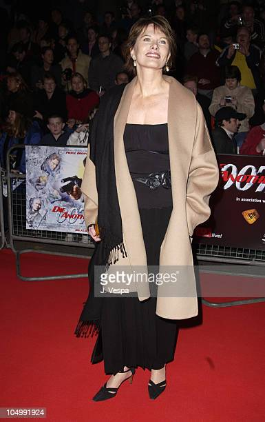Maud Adams during Die Another Day London Premiere Outside Arrivals at Royal Albert Hall in London United Kingdom