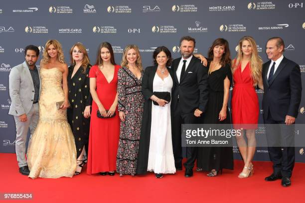 Maud Baecker Charlotte Valandrey Ingrid Chauvin Alexandre Brasseur Anne Caillon and Solene Hebert attend the opening ceremony of the 58th Monte Carlo...